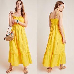 Anthropologie Yellow Maxi Dress